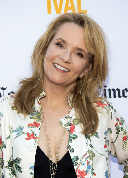 Lea Thompson Medium Wavy Cut with Bangs [the la film festival opening night world premiere of focus features,the book of henry,photo,hair,blond,hairstyle,long hair,layered hair,brown hair,smile,feathered hair,makeover,premiere,lea thompson,culver city,california,auto sponsorship,alfa romeo,laff,afp]