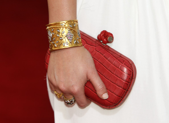 Leighton Meester Buckled Clutch