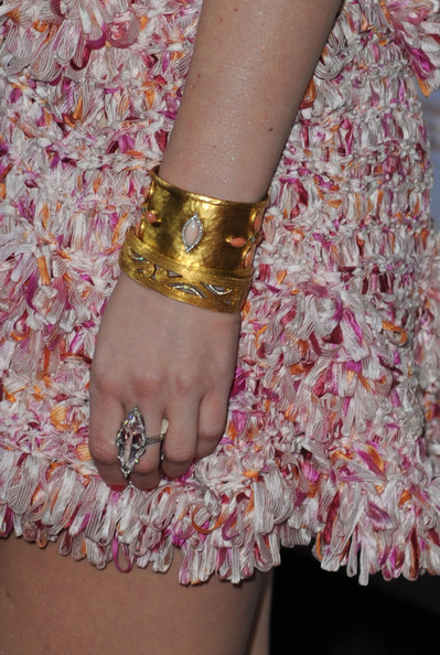 Leighton Meester Gemstone Ring [country strong,pink,nail,fashion,footwear,bracelet,fashion accessory,joint,wrist,textile,bangle,arrivals,leighton meester,beverly hills,california,screen gems,the academy of motion picture arts sciences,screening,screening]