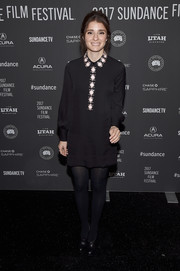 Shiri Appleby donned a Kate Spade LBD featuring a bejeweled collar and front for the Sundance premiere of 'Lemon.'