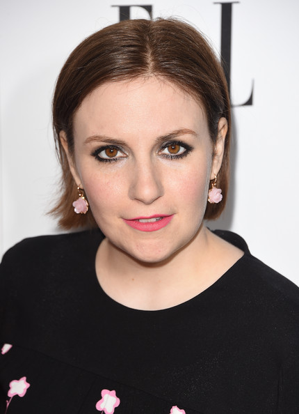 Lena Dunham Short Straight Cut [hair,face,eyebrow,lip,hairstyle,cheek,forehead,beauty,head,chin,lena dunham,annual women in television celebration,hearts on fire,arrivals,california,sunset tower,west hollywood,elle,olay,annual women in television celebration]