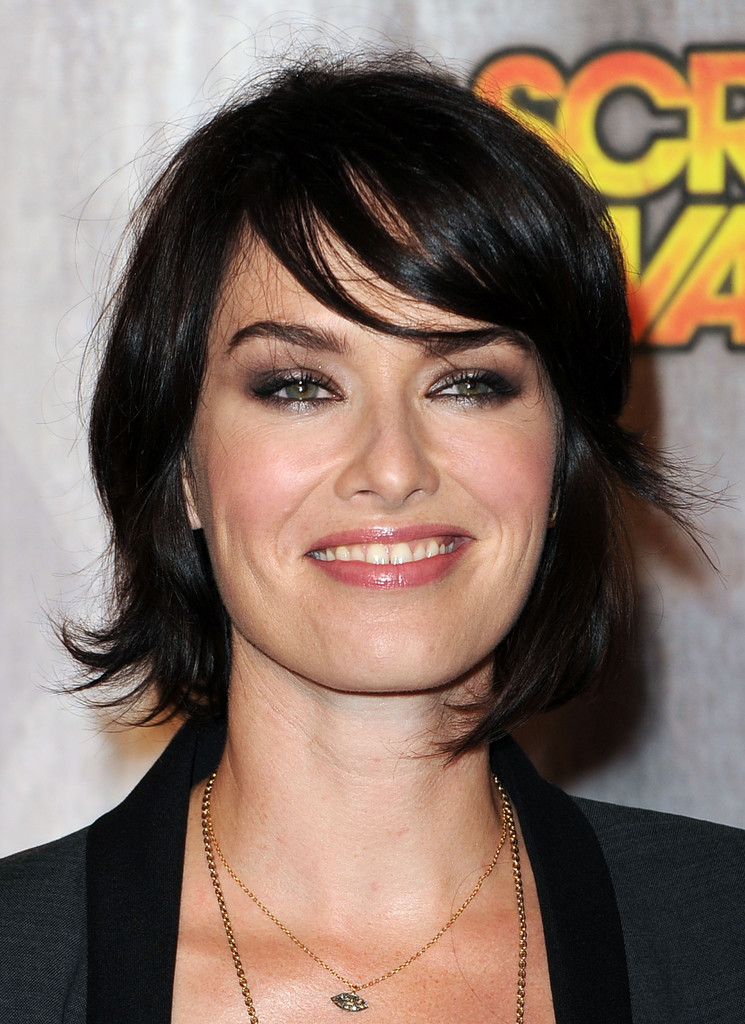 Lena Headey Layered Razor Cut Short Hairstyles Lookbook