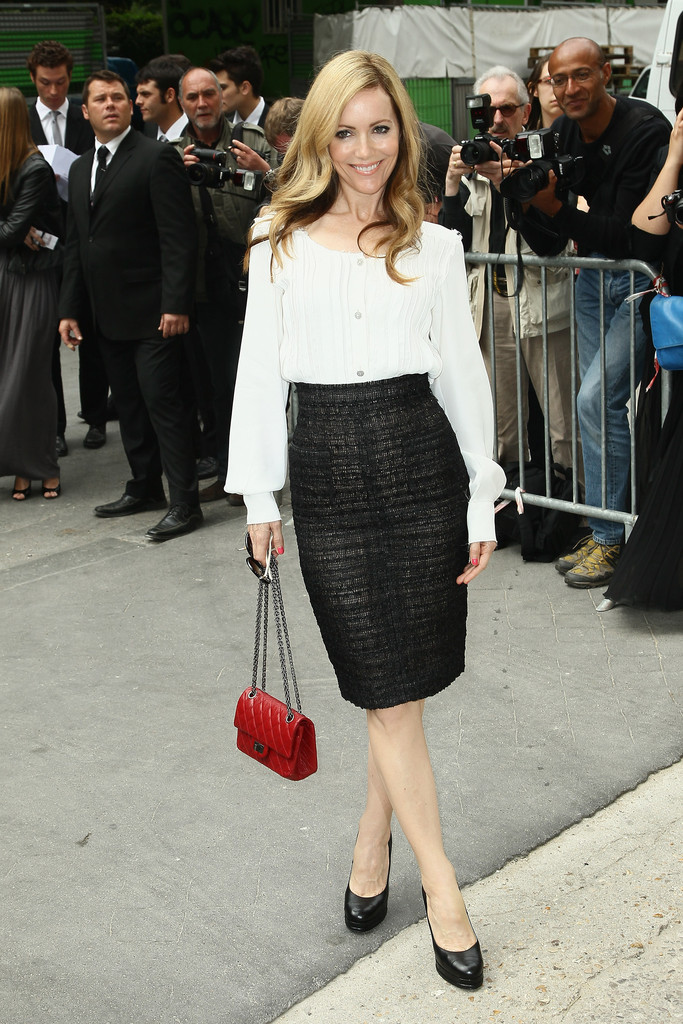Leslie Mann Pencil Skirt Leslie Mann Clothes Looks