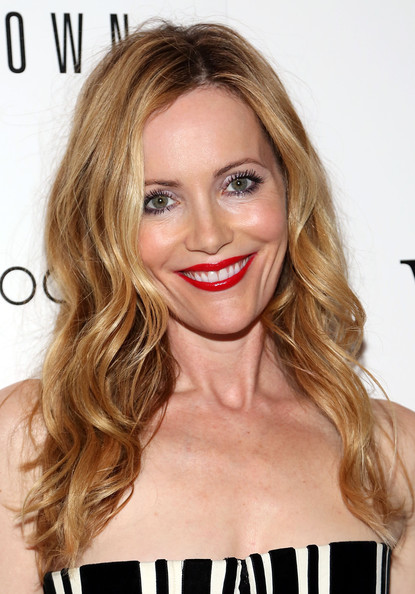 Leslie Mann Red Lipstick [the other woman,hair,face,blond,hairstyle,lip,eyebrow,chin,long hair,brown hair,beauty,leslie mann,bobbi brown,new york city,the paley center for media,instyle,cinema society bobbi brown,the cinema society,host a screening,screening]