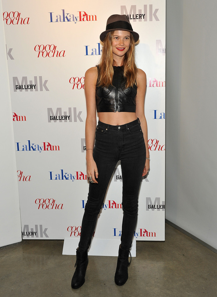 "Behati Prinsloo attends the ""Letters to Haiti"" premiere at Milk Gallery on December 7, 2011 in New York City."