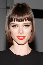 Coco Rocha framed her face with a bob with blunt bangs for the Gareth Pugh Spring 2015 show.