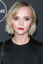 Christina Ricci was equal parts cute and edgy with her textured bob at the Lifetime Winter Movies celebration.
