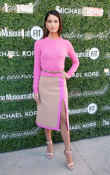 Lily Aldridge Knee Length Skirt