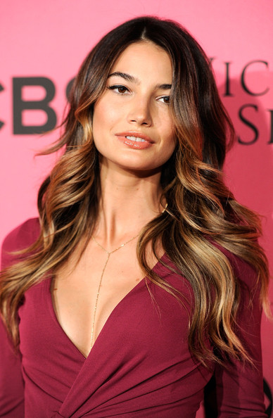 Lily Aldridge Ombre Hair