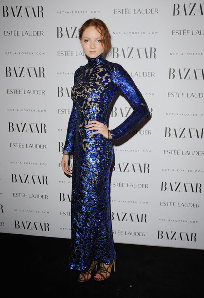 Lily Cole Beaded Dress