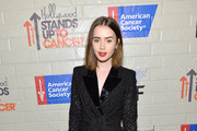 Lily Collins Short Suit