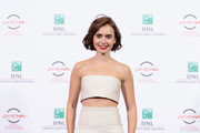 Lily Collins Wide Leg Pants