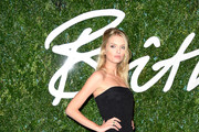 Lily Donaldson Strapless Dress
