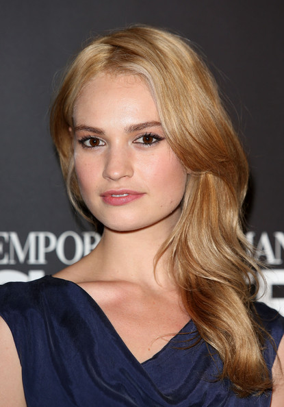 Lily James Side Sweep