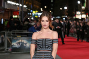 Lily James Off-the-Shoulder Top
