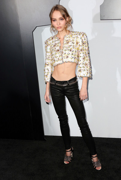 Lily-Rose Depp Leather Pants