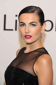 Camilla Belle wore stunning sapphire shades of shadow at an evening with Ralph Lauren hosted by Oprah Winfrey.
