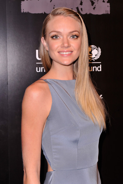 Lindsay Ellingson Long Straight Cut [the ninth,hair,clothing,hairstyle,blond,dress,shoulder,cocktail dress,beauty,premiere,chin,arrivals,lindsay ellingson,wall street,new york city,unicef,ninth annual,cipriani,snowflake ball]