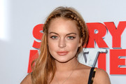 Lindsay Lohan Long Braided Hairstyle