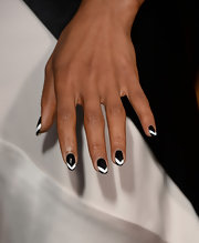 Kerry Washington rocked these black-and-white chevron nails while out at the premiere of 'Peeples' in Hollywood.