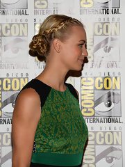 Yvonne's 'do featured one twisted braid that looped around her bun for a chic style.
