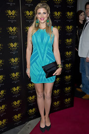 Ashley James chose a two-toned blue sleeveless frock for the Lipsy VIP Awards Ceremony.