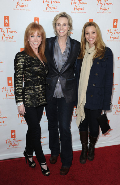 Lisa Kudrow Knit Scarf [kathy griffin,lisa kudrow,jane lynch,l-r,the trevor project,aid,kathy griffin performs at the gibson amphitheatre,universal city walk,the gibson amphitheatre,universal city]