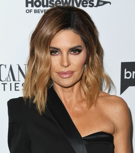 Lisa Rinna Medium Wavy Cut [the real housewives of beverly hills,season,hair,face,hairstyle,blond,eyebrow,shoulder,brown hair,chin,lip,long hair,arrivals,lisa rinna,gracias madre,west hollywood,california,premiere party,bravo,mexican dynasties]