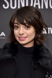 Kate Micucci looked cute wearing this layered razor cut at the Sundance premiere of 'The Little Hours.'