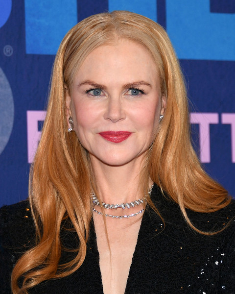 Nicole Kidman wore her hair down in a gently wavy style at the premiere of 'Big Little Lies' season 2.