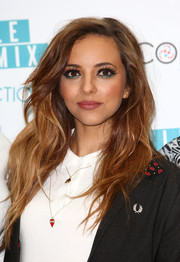 Jade Thirlwall wore her hair in messy-glam waves during the launch of her band's makeup range.
