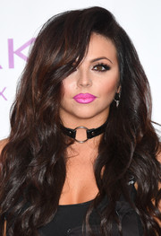Jesy Nelson's black leather choker had a bondage feel.