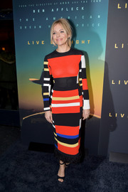 Sienna Miller looked dynamite in a color-block sweater dress by Proenza Schouler at the New York screening of 'Live by Night.'