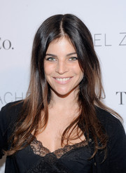Julia Restoin-Roitfeld kept it casual with this long center-parted hairstyle at the 'Living in Style' book launch.