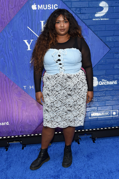 Lizzo Midi Dress [stole the show documentary film premiere,stole the show documentary film premiere,clothing,fashion,dress,footwear,premiere,long hair,shoulder,electric blue,joint,carpet,lizzo,new york city,kygo,the metrograph]
