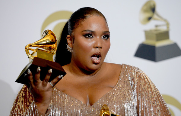Lizzo Ponytail [beauty,lip,metal,music artist,lizzo,best traditional r b performance,best pop solo performance,room,press room,los angeles,california,staples center,annual grammy awards,lizzo,grammy awards,grammy award for best pop solo performance,staples center,grammy award for album of the year,grammy award for best traditional r b performance,singer-songwriter,academy awards,grammy award for best urban contemporary album]