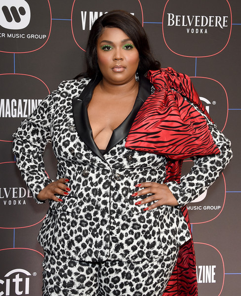 Lizzo Red Nail Polish [magazine,clothing,fashion design,plus-size model,style,arrivals,lizzo,los angeles,nomad hotel,california,warner music group hosts pre-grammy celebration,warner music group pre-grammy celebration]