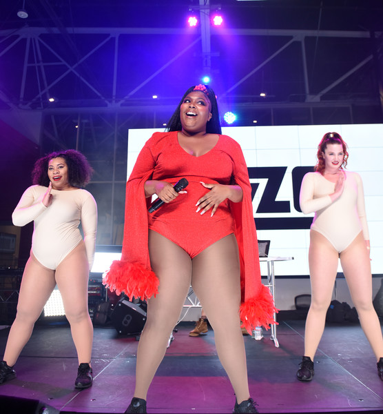 Lizzo Bodysuit [performance,thigh,leg,fashion,performing arts,dancer,event,stage,competition,dance,billboard music awards,youtube space la,elle present women in music,california,los angeles,elle present women in music,singer lizzo]