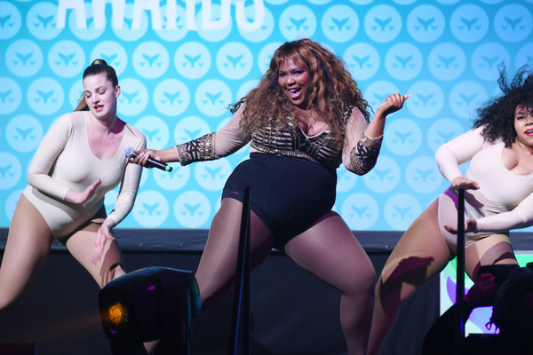 Lizzo Bodysuit [fun,performance,event,thigh,leg,leisure,performing arts,bikini,stage,vacation,lizzo,9th annual shorty awards,stage,new york city,ceremony,the 9th annual shorty awards]