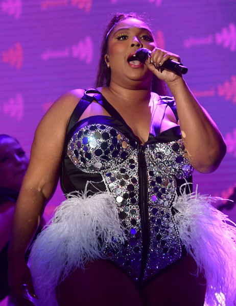 Lizzo Bodysuit [performance,entertainment,music artist,performing arts,singing,singer,stage,event,performance art,public event,glaad media awards,los angeles,beverly hills,california,the beverly hilton hotel,lizzo]