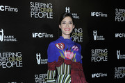 Lizzy Caplan Print Dress