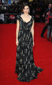Rachel Weisz looked breathtaking at the Dare Gala in a black-and-white printed wrap gown by Alexander McQueen.