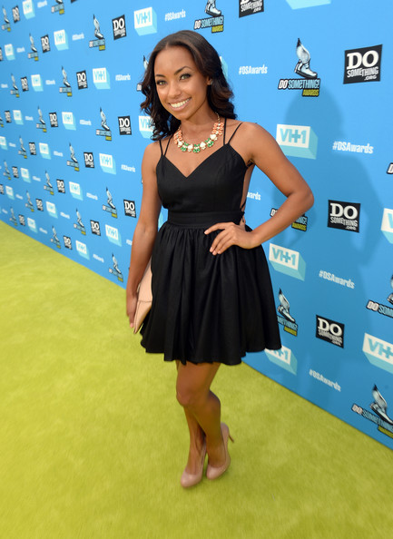 Logan Browning Little Black Dress