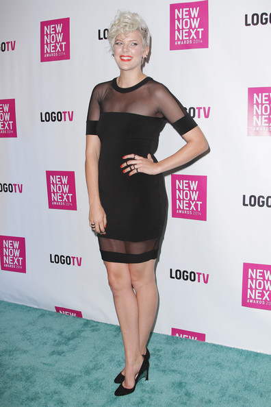 More Pics of Betty Who Messy Cut (3 of 3) - Short Hairstyles Lookbook - StyleBistro [clothing,dress,shoulder,cocktail dress,little black dress,joint,hairstyle,premiere,pink,fashion,arrivals,betty who,newnownext awards,logo tv,miami beach,florida,kimpton surfcomber hotel,tv,logo,2014 newnownext awards]