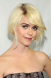 Taryn Manning swept her platinum-blond locks up into a faux bob for the Logo TV Trailblazers event.