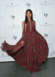 Geena Rocero donned a flowing print dress with a cutout bodice for the Trailblazer Honors.