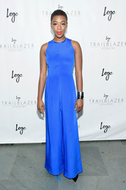 Samira Wiley looked radiant at the Trailblazer Honors in an electric-blue wide-leg jumpsuit.
