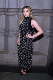 Chloe Grace Moretz hit the Trailblazer Honors 2016 wearing a beaded, semi-sheer black gown by Proenza Schouler.