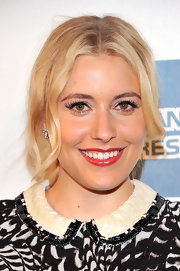 Greta Gerwig swept on liquid liner and applied a pair of flirty of lashes for the premiere of 'Lola Versus.'