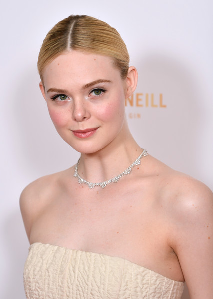 More Pics of Elle Fanning Evening Pumps (5 of 11) - Heels Lookbook - StyleBistro [hair,face,hairstyle,shoulder,beauty,skin,eyebrow,lip,chin,dress,red carpet arrivals,elle fanning,london,england,the may fair hotel,london critics circle film awards,london critics circle film awards 2020,elle fanning,all the bright places,fanning sisters,actor,london film critics circle,london,film criticism,image,london film critics circle awards,red carpet]